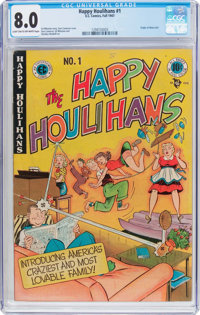 The Happy Houlihans #1 (EC, 1947) CGC VF 8.0 Light tan to off-white pages