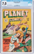 Golden Age (1938-1955):Science Fiction, Planet Comics #60 (Fiction House, 1949) CGC FN/VF 7.0 Off-whitepages....