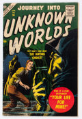 Golden Age (1938-1955):Science Fiction, Journey Into Unknown Worlds #56 (Atlas, 1957) Condition: VG/FN....