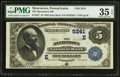 National Bank Notes:Pennsylvania, Myerstown, PA - $5 1882 Date Back Fr. 537 The Myerstown NB Ch. #(E)5241. ...