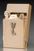 Silver Smalls:Other , An Asprey & Co. 9K Gold and Diamond Lighter by Repute Owned andUsed by Vivien Leigh, London, circa 1940. Marks: 9, 375,A...