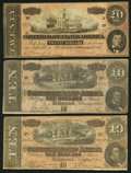 Confederate Notes:1864 Issues, T67 $20 1864;. T68 $10 1864, Two Examples.. ... (Total: 3 notes)
