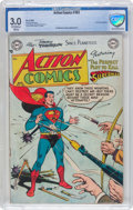 Golden Age (1938-1955):Superhero, Action Comics #183 (DC, 1953) CBCS GD/VG 3.0 Off-white to white pages....