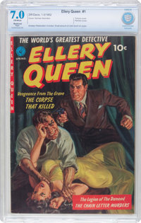 Ellery Queen #1 (Ziff-Davis, 1952) CBCS Apparent FN/VF 7.0 Slight (A) Off-white pages