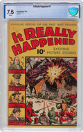 Golden Age (1938-1955):Non-Fiction, It Really Happened #1 (Wm. H. Wise & Co., 1944) CBCS VF- 7.5White pages....