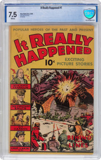 It Really Happened #1 (Wm. H. Wise & Co., 1944) CBCS VF- 7.5 White pages