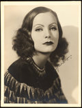 "Movie Posters:Drama, Greta Garbo by Ruth Harriet Louise (MGM, Late 1920s). AutographedPortrait Photo (10"" X 13"").. ..."
