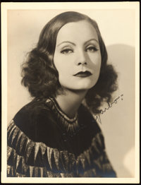 "Greta Garbo by Ruth Harriet Louise (MGM, Late 1920s). Autographed Portrait Photo (10"" X 13"")"
