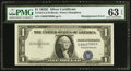 Error Notes:Shifted Third Printing, Fr. 1614 $1 1935E Silver Certificate. PMG Choice Uncirculated 63 EPQ.. ...
