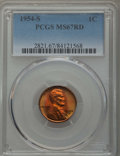 Lincoln Cents: , 1954-S 1C MS67 Red PCGS. PCGS Population: (276/0). NGC Census: (794/0). Mintage 96,190,000. ...