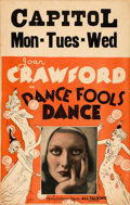 "Movie Posters:Drama, Dance Fools Dance (MGM, 1931). Window Card (14"" X 22"").. ..."