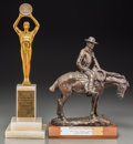 Decorative Arts, American, A Western Heritage Wrangler Award and Automatic Music Industry ofAmerica Award, mid-20th century. 17-1/8 inches high (43.5 ...(Total: 2 Items)