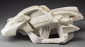 Sculpture, An Italian Plaster Maquette Sculpture of a Futuristic Concept Car, 20th century. 9-1/4 h x 23 w x 10-1/4 d inches (23.5 x 58...