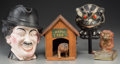General Americana, Three Novelty Toys with Figural Charlie Chaplin Pitcher, circa 1920and later. 8-1/2 inches high (21.6 cm) (tallest, pitcher... (Total:4 Items)