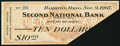 Obsoletes By State:Ohio, Hamilton, OH- Second National Bank $10 Nov. 9, 1907 ShaferOH1300-10b. ...