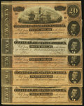 Confederate Notes:1864 Issues, T67 $20 1864 Five Examples.. ... (Total: 5 notes)