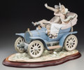 Ceramics & Porcelain, Continental:Other , A Lladro Car In Trouble Porcelain Figural Group, lastquarter 20th century. Marks: LLADRO, (logotype),DAI...