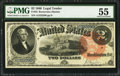 Large Size:Legal Tender Notes, Fr. 53 $2 1880 Legal Tender PMG About Uncirculated 55.. ...