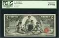 Large Size:Silver Certificates, Fr. 248 $2 1896 Silver Certificate PCGS Superb Gem New 67PPQ.. ...