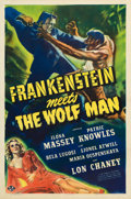 "Movie Posters:Horror, Frankenstein Meets the Wolf Man (Universal, 1943). One Sheet (27"" X41"") Karl Godwin Artwork.. ..."
