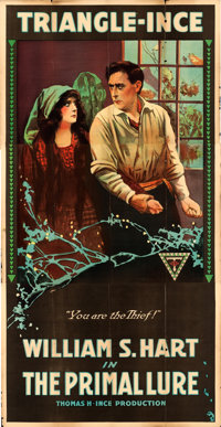 "The Primal Lure (Triangle-Ince, 1916). Three Sheet (41"" X 81"")"