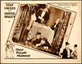 "Movie Posters:Comedy, Their Purple Moment (MGM, 1928). Lobby Card (11"" X 14"").. ..."