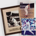 Autographs:Photos, Baseball Greats Signed Photographs (3) - Musial, Griffey Jr. & Aaron. ...