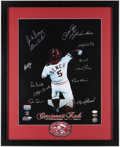 Autographs:Others, 1975 Cincinnati Reds Multi-Signed Oversized Photograph. ...