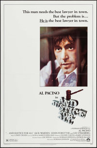 """...And Justice for All & Others Lot (Columbia, 1979). Flat Folded One Sheets (3) (27"""" X 41""""). Drama..."""