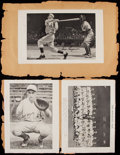 Autographs:Others, Baseball Greats Signed Index Card & Cut Autograph Collection (7) - Includes Vander Meer. ...