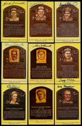 Autographs:Post Cards, Baseball Greats Signed Hall of Fame Plaque Postcard Lot of 13....