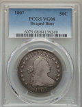 Early Half Dollars: , 1807 50C Draped Bust VG8 PCGS. PCGS Population: (81/1496). NGCCensus: (37/806). CDN: $200 Whsle. Bid for problem-free NGC/...