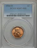Lincoln Cents: , 1944-D 1C MS67+ Red PCGS. PCGS Population: (322/2 and 33/0+). NGC Census: (992/0 and 4/0+). Mintage 430,577,984. ...