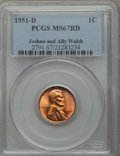 Lincoln Cents: , 1951-D 1C MS67 Red PCGS. Ex: Joshua and Ally Walsh. PCGS Population: (134/0). NGC Census: (179/0). Mintage 625,355,008. ...