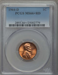 1964-D 1C MS66+ Red PCGS. PCGS Population: (416/18 and 34/3+). NGC Census: (392/11 and 1/0+). CDN: $14 Whsle. Bid for pr...