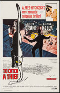 "Movie Posters:Hitchcock, To Catch a Thief (Paramount, R-1966). One Sheet (27"" X 41"").Hitchcock.. ..."