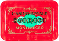 "Casino Royale (MGM, 2006). Screen Used Prop $500,000 Casino Plaque (3"" X 4.24"" X 1/8"")"