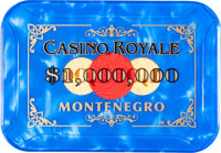 "Casino Royale (MGM, 2006). Screen Used Prop $1,000,000 Casino Plaque (3.75"" X 4.5"" X 1/8"")"