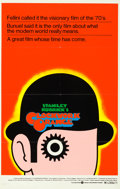 "Movie Posters:Science Fiction, A Clockwork Orange (Warner Brothers, 1973). One Sheet (26"" X 41"")Alternate ""R"" Style, David Pelham Artwork.. ..."