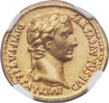 Ancients:Roman Imperial, Ancients: Augustus (27 BC-AD 14). AV aureus (20mm, 7.79 gm, 2h). NGC AU 5/5 - 4/5....