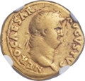 Ancients:Roman Imperial, Ancients: Nero (AD 54-68). AV aureus (20mm, 7.07 gm, 7h). NGC Fine5/5 - 3/5....