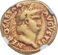 Ancients:Roman Imperial, Ancients: Nero (AD 54-68). AV aureus (19mm, 7.20 gm, 7h). NGCChoice Fine 5/5 - 3/5....
