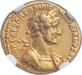 Ancients:Roman Imperial, Ancients: Hadrian (AD 117-138). AV aureus (20mm, 7.11 gm, 7h). NGC Choice VF 5/5 - 4/5....