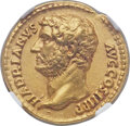 Ancients:Roman Imperial, Ancients: Hadrian (AD 117-138). AV aureus (20mm, 7.00 gm, 6h). NGCAU ★ 5/5 - 5/5, Fine Style....