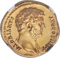 Ancients:Roman Imperial, Ancients: Hadrian (AD 117-138). AV aureus (20mm, 7.10 gm, 6h). NGCAU 5/5 - 4/5, Fine Style....