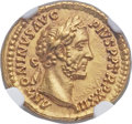 Ancients:Roman Imperial, Ancients: Antoninus Pius (AD 138-161). AV aureus (20mm, 7.20 gm,5h). NGC MS 5/5 - 5/5. ...