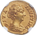 Ancients:Roman Imperial, Ancients: Diva Faustina Senior, wife of Antoninus Pius (died AD140/1). AV aureus (19mm, 7.02 gm, 6h). NGC ...