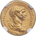 Ancients:Roman Imperial, Ancients: Trajan (AD 98-117). AV aureus (19mm, 7.22 gm, 6h). NGC XF5/5 - 3/5....