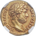 Ancients:Roman Imperial, Ancients: Hadrian (AD 117-138). AV aureus (20mm, 7.05 gm, 6h). NGC Choice XF ★ 5/5 - 5/5, Fine Style....