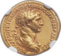 Ancients:Roman Imperial, Ancients: Trajan (AD 98-117). AV aureus (20mm, 7.09 gm, 6h). NGCChoice VF ★ 5/5 - 4/5....